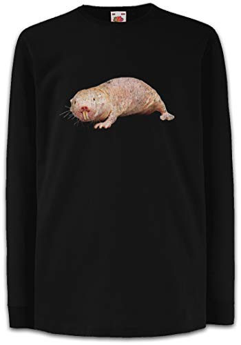 Urban Backwoods Naked Mole Rat Kinder Kids T-Shirt Met Lange Mouwen