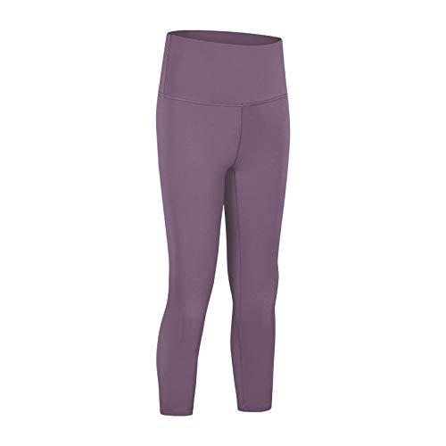 QFYD FDEYL Señoras Bloomers el Harem Pantalones,Pantalones de Yoga Ajustados de Cintura Alta para Mujer, Pantalones de Yoga Pilates-Violeta_XS,Camiseta sin Mangas de Punto Jersey Suave de Mujer