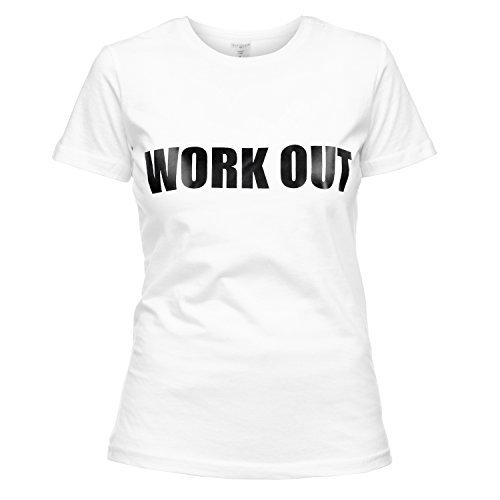 Loomiloo T-shirt Work Out Training Sport Gym Fitness ronde hals korte mouwen bedrukking hipster Swagger blogger Street Wear Print Statement Top Shirt TSST
