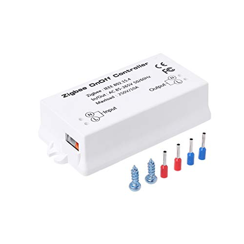 JOYKK Zigbee Aan/Uit Controller Smart Switch APP Afstandsbediening Smart Home Module AC85-265V 10A - Wit