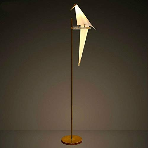 Koper Single Head Simple Creative Bird Study Bedroom nachtkastje LED Staande lamp Simple Creative Decoration