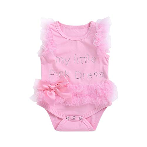 Lee Little Angel baby baby meisjes zwart kant boog kant jumpsuit