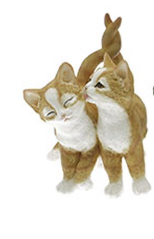 Playtime Affection Twin Cats Ginger Decorative Ornament by Leonardo