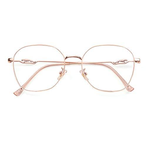SaNgaiMEi Gafas para Ordenador Anti luz Azul - Gafas con Filtro de luz Azul Marco de Metal Gafas para Ordenador Bloqueo de luz azul Evita la Fatiga Ocular para
