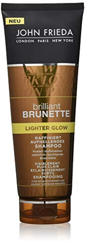 John Frieda Brilliant Brunette Lighter Glow Geraffineerd oplichtend shampoo, per stuk verpakt (1 x 250 ml) 2 x 250 ml