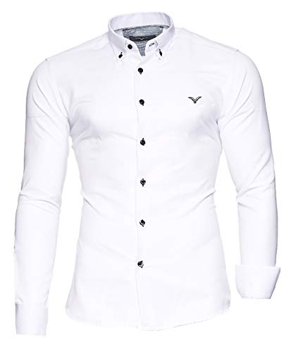 Kayhan Hombre Camisa Manga Larga Slim Fit S - 6XL Modello - Oxford
