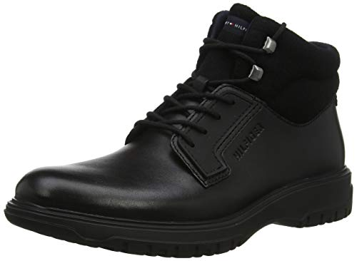 Tommy Hilfiger Cleated Outsole Leather Boot, Botas Clasicas para Hombre