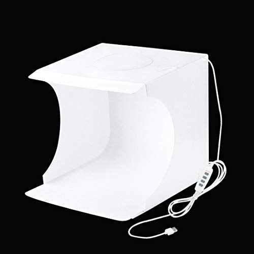 ASDHOI Light Photo Lighting Studio Shooting Tent Box Kit 20cm Ring LED Panel Folding Portable met 6 kleuren achtergronden, Grootte: 24x 23x22cm