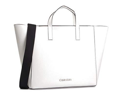 Calvin Klein Strap Shopper Borsa Bright White