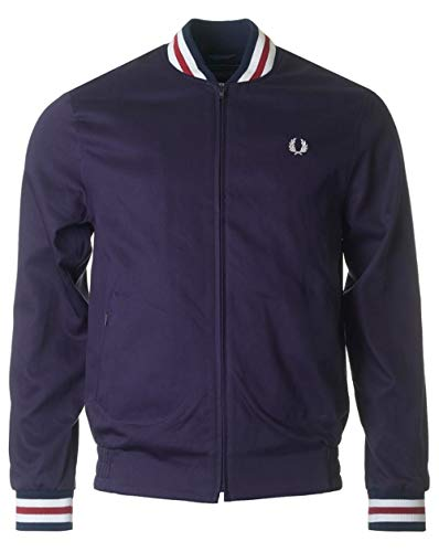 Fred Perry Reissues Made in England Original Tennis Bomber Jacket Navy & Red-42
