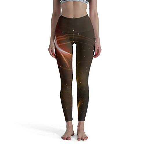 Shaoziyun Space Galaxy Leggings Dames 3/4 Training hoge taille enkellengte ondoorzichtige tights panty