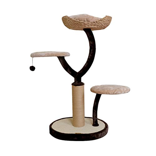HXGL-Cat klimrek Cat Tower Krabpaal Sisal Cat Scratcher Platform Pet Toy Supplies activiteit eenvoudig te monteren Simple Fashion Wear-resistant Duurzaam Solid (Size : L55*W45*H105.5cm)