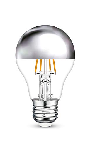 E27 LED filament lamp Capella kopspiegel zilver 4,5 Watt dimbaar A60 (Vervangt 35W)