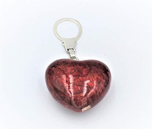 De Santis sleutelhanger hartvorm zilver en nagellak