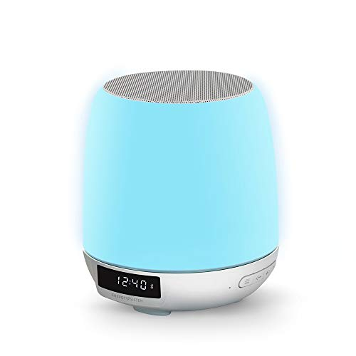 Energy Sistem Clock Speaker 3 Light (Dual Alarm, 8W, Wake-Up Light, FM Radio, Bluetooth, Line-In, Touch Control)