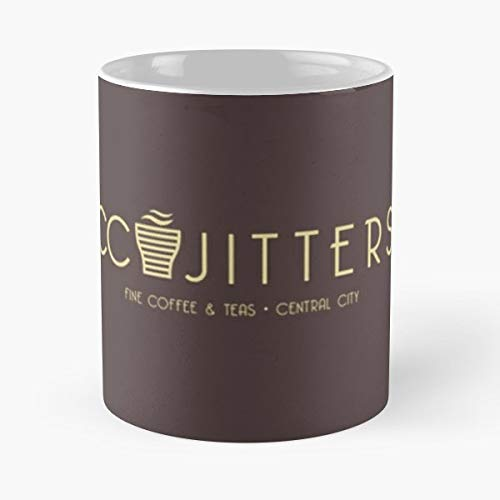 Cc Jitters - Cafe Classic Mug 11 Oz Coffee Mugs Unique Ceramic Novelty Cup, The Best Gift For Holidays.