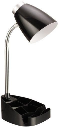 Limelights LD1002-BLK Gooseneck Organizer iPad Stand or Book Holder Desk Lamp, Black
