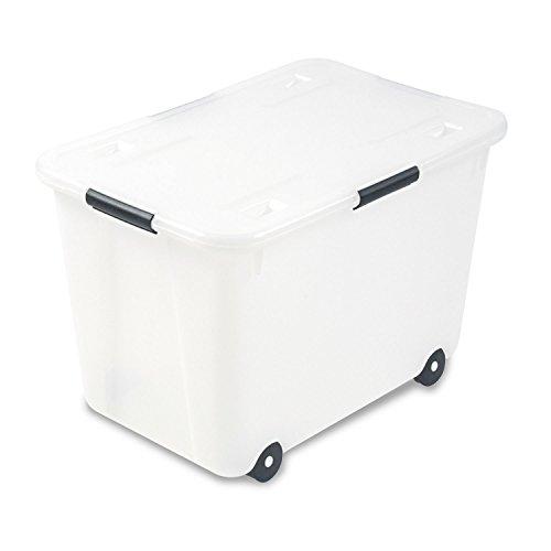 Advantus 34009 Rolling Storage Box, Letter/Legal, 15-Gallon Size, Clear