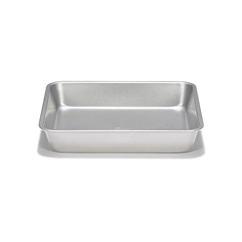 Patisse Nonstick Silver Top Square Cake Pan, 8-5/8-Inch, Silver Grey