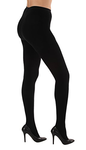 Opaque Graduated Compression Pantyhose, Support Hose Pantyhose - 20-30mmHg Graduated Medical Compression, Color Black, Size Medium, SKU A204BL2 – Absolute Support Brand, Made in the USA
