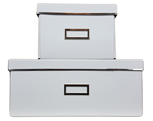 IKEA Smarassel Home Storage Large and Small Box Pair For Home Storage, Organization, Office [White]