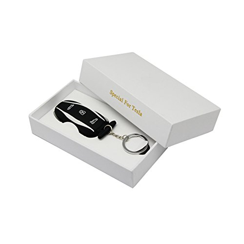 Topfit Silicone Car Keychain Compatible Tesla Model S P85D (Black)