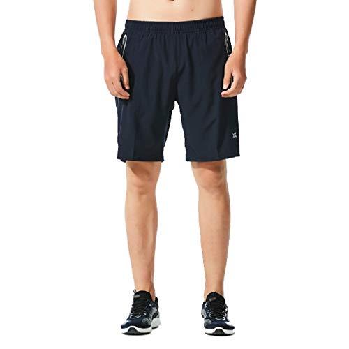 Keliay Bargain Shorts Trunks Men Hawaiian Trunks Quick Dry Beach Surfing Running Swimming Solid Short Pant Blue