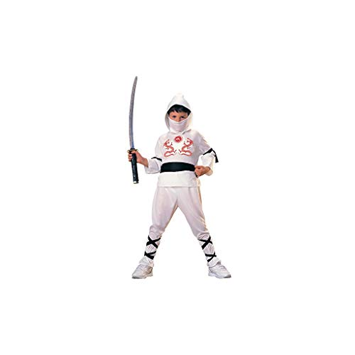 Rubie's - Disfraz de ninja para niños, color blanco, 5-7 años (12111-M)