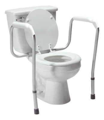 Lumex 6465A-1 Versaframe Toilet Safety Rail with Adjustable Height, Brown Box