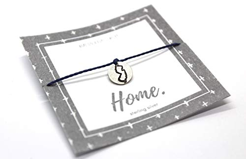 State Bracelet - Pick Your State Bracelet - Going Away Gift - Traveler Present- Moving