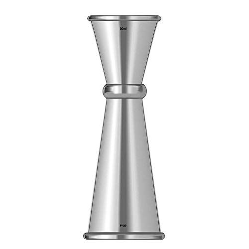 Double Cocktail Jigger Japanese-Style Measure Liquor Stainless Steel Cocktail Jiggers Holds 1oz / 2oz The Perfect Addition to Your Home Bar Tools