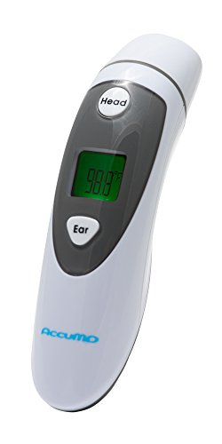 Instant Infrared Thermometer - Ear and Forehead Mode - Digital Display - Accurate Temperature - Medical Design