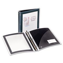 "Flexi-View Round-Ring Presentation View Binder, 1-1/2"" Capacity, Black"