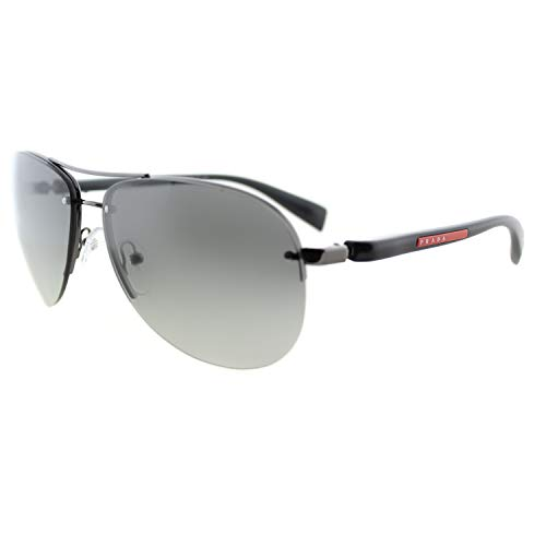Prada SPORT Herren 0Ps56Ms 5Av3M1 62 Sonnenbrille, Grau (Gunmetal/Grey Gradient)