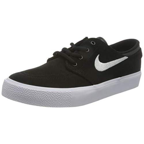 Nike SB Stefan Janoski, Scarpe da Skateboard Unisex-Adulto, Nero (Nero/Gum Medium Brown/Bianco), 38 EU