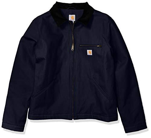 Carhartt mens Duck Detroit Jacket (Regular and Big & Tall Sizes) Work Utility Outerwear, Navy, XX-Large US