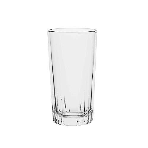 Amazoncommercial Highball Drinking Glasses, Barware Glass Tumbler, 12.9 Oz., Set of 8