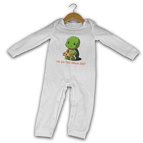 Turtles I'm On The-Ninja-Diet Sommer Langarm Mädchen Jungen Baby Strampler Baumwolle Neugeborene Säugling Body Baby Pyjama