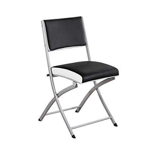 RONGJJ Moderner Schreibtischstuhl Klappstuhl Computer Schreibtischstuhl Esszimmerstuhl Büro Rest Relax Chair Meeting Schwarz,