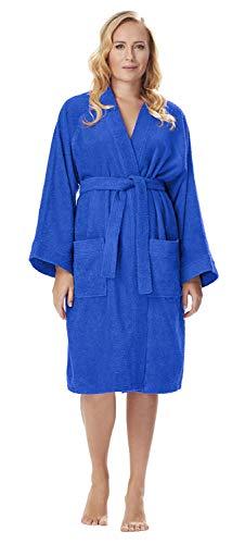 Albornoz Kimono para Mujer, Azul Claro, S/M