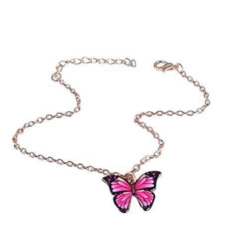 spier Tobillera de mariposa para mujer, cadena de aleación de aluminio ajustable, joyas para mujeres y niñas, regalos