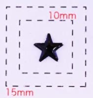 星型カラフルスタッズ6ミリ(星)《ネイル・デコ電用メタルパーツ》ブラック10個入