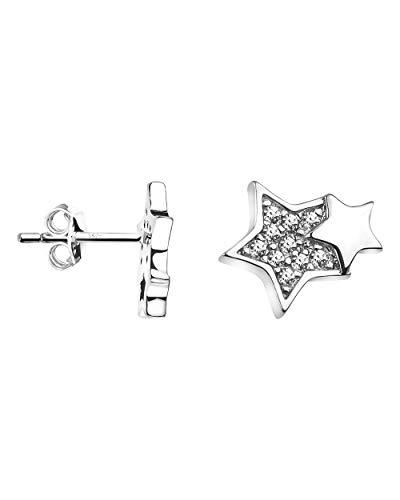 SOFIA MILANI - Boucles d'Oreilles pour Femmes en Argent 925 - avec des Pierres de Zircone - Boucles d'Oreilles avec Motif en Forme de...