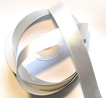 CaPiSo® 25m 15mm Doppelseitig Satinband Schleifenband Dekoband Satin (Creme)