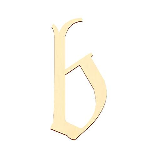 Bütic GmbH Sperrholz Buchstaben - Altdeutsch/LPZ - Wunschtext/Schriftzug mit Größenauswahl - Pappel 3mm, Größe:10cm, Buchstaben:kleines b