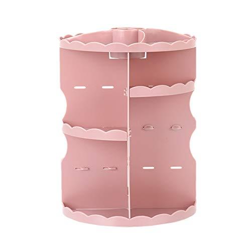 KUOZEN Rangement Maquillage Organisateur Maquillage Rangement Salle De Bains Boite Maquillage Make Up Titulaire Maquillage Organisateur De Stockage Maquillage Organisateur Boîte Pink