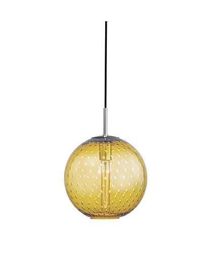 "Hudson Valley Lighting 2010-PC-LA Rousseau - 12.75"" One Light 60W Pendant, Glass Options: Light Amber Glass"
