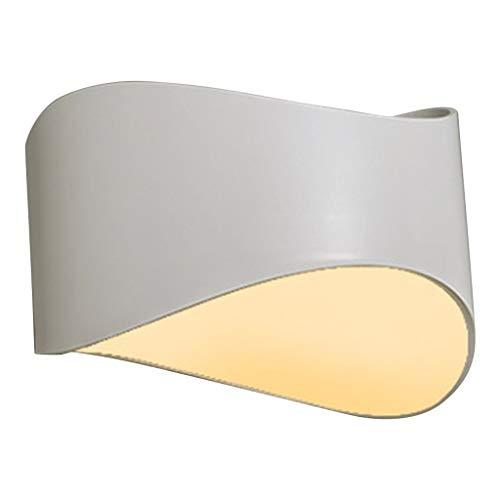 xiaokeai Lámpara de Pared Lámpara de Pared LED Moderna Lámpara de Pared Lámpara de Pared de la Sala de Estar del Dormitorio del Pasillo Interior de 9 W (Negro) Luz de Pared (Color : White)