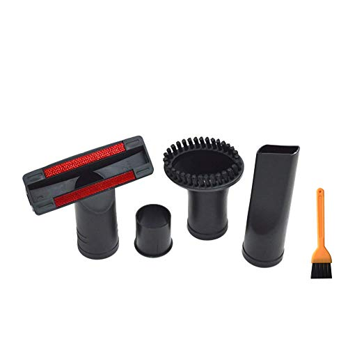 EZ SPARES 4PCS Replacement for Universal 32mm-35mm 1.25inch Flexible Small Mini Tool Wand Vacuum Cleaner Crevices Tool Sofa Brush Accessories Brush Kits for All Vacuum Hoses Accepting