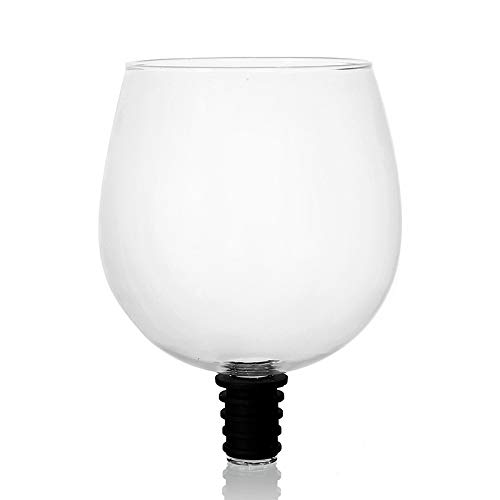 Nrpfell Copa de ChampáN de Vino Tinto Creativo con Sello de Silicona Beba Directamente de la Botella Vasos de Cristal Taza de CóCtel 500ML